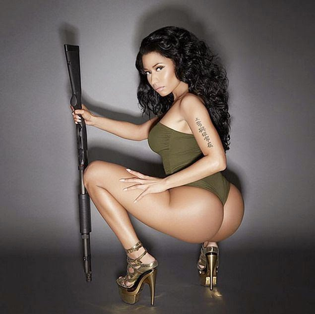 PhotoFunMasti: Nicki Minaj Hot 2015 Calendar Photoshoot