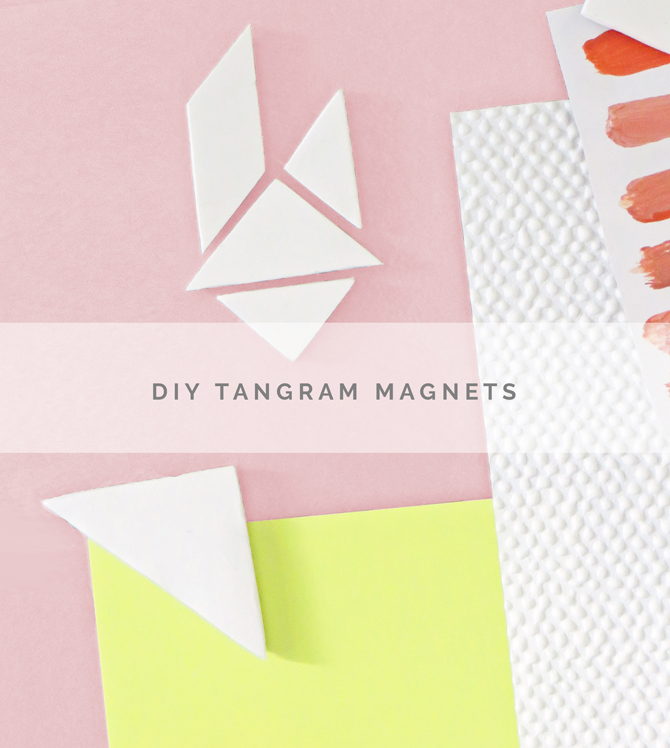 DIY tangram magnets clay