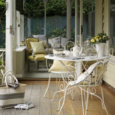 shabby chic conservatory