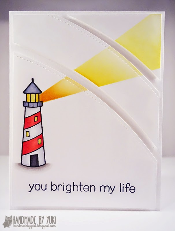"Online Card Classes CAS4 ""You Brighten My Life"" Card by Handmade by Yuki 