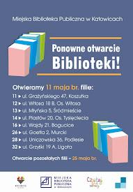 WAŻNY KOMUNIKAT - PONOWNE OTWARCIE BIBLIOTEK