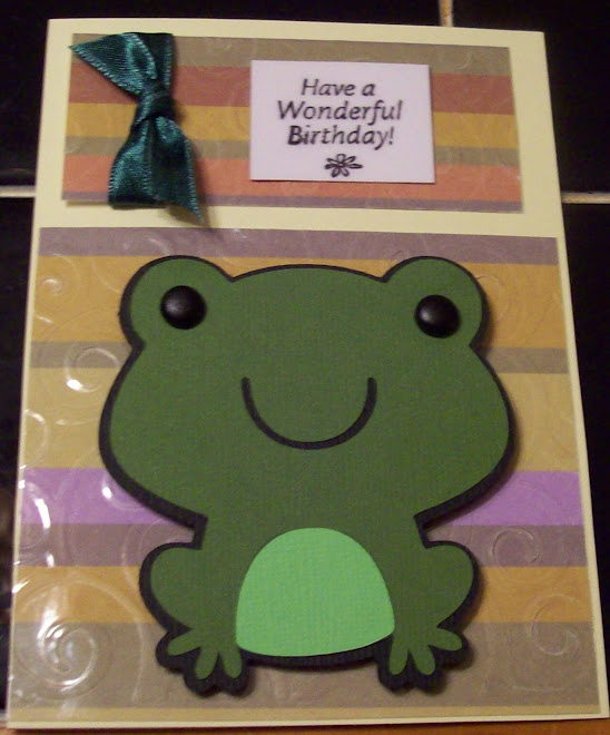 Love the frog die cut!