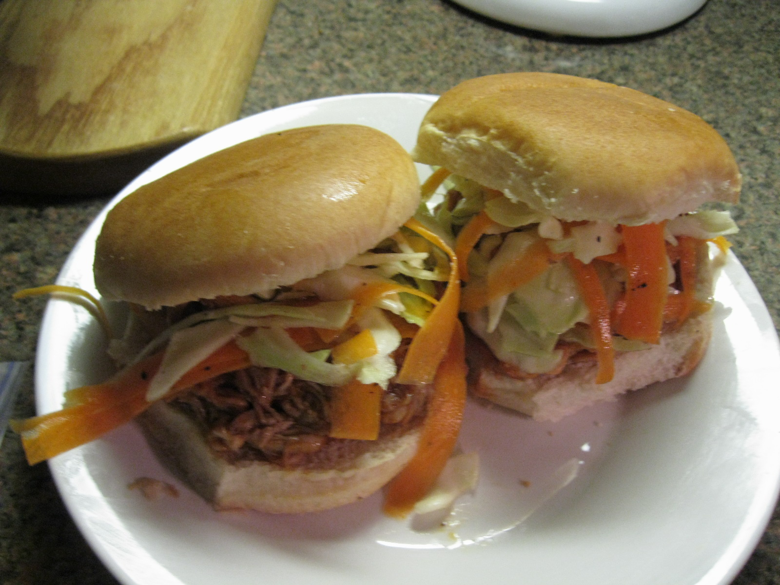 The Coffee Shop: Pulled-Pork Sandwiches with Coleslaw