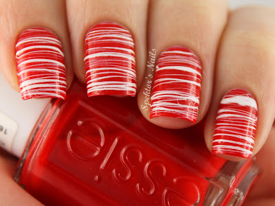 Candy Cane Sugar Spun Nails