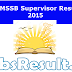 RSMSSB Result 2015 Female Supervisor Exam Cut Off Marks