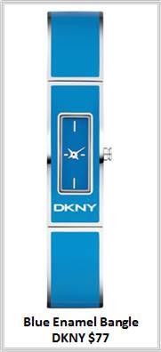 Sydney Fashion Hunter - Timeless Timepieces - DKNY Blue Ceramic Watch