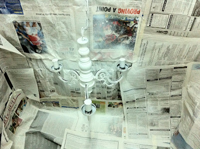 Painting the Chandelier