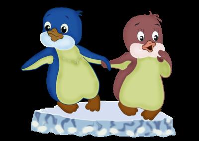 дружный народ в антарктиде пингвины