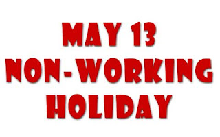 May 13 as a special (non-working) holiday