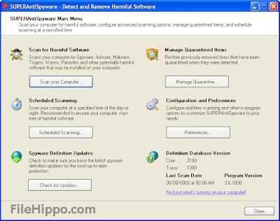 SuperAntiSpyware 5.6.1030 Freeware