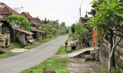 Salah satu sudut Desa Adat Sulahan, Bali, tampak asri.