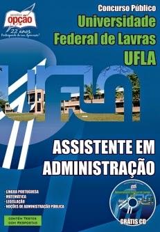 Novo Concurso Universidade Federal de Lavras ASSISTENTE EM ADMINISTRAÇÃO 2015