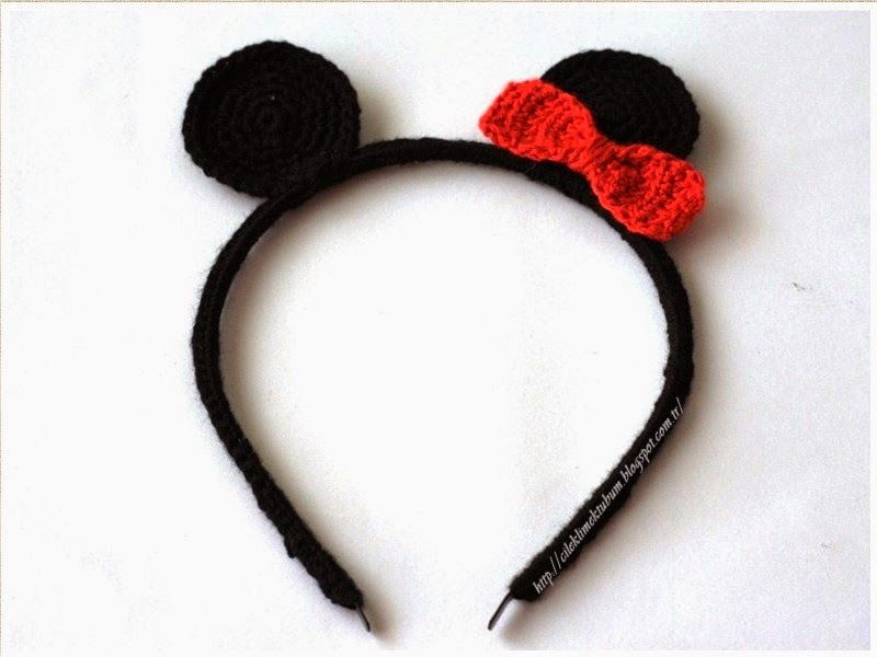 crochet, dıy, DIY, handmade, kendin yap, minniemouse, tığişi, Minniemouseheadband, tığ işi, taç, el işi, handmade, kırmızı, minnie, minnie mouse aksesuar, minnie mouse taç, örgü,tığ işi minnie mouse taç yapımı