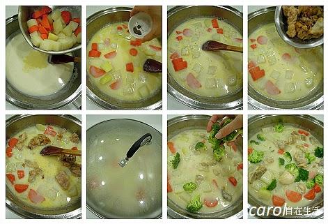 大頭菜牛奶雞肉煮
