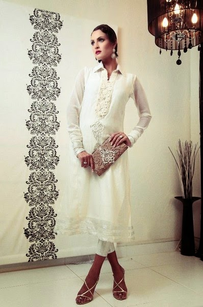 Nazrah Lodhi Dress Collection 2014-2015