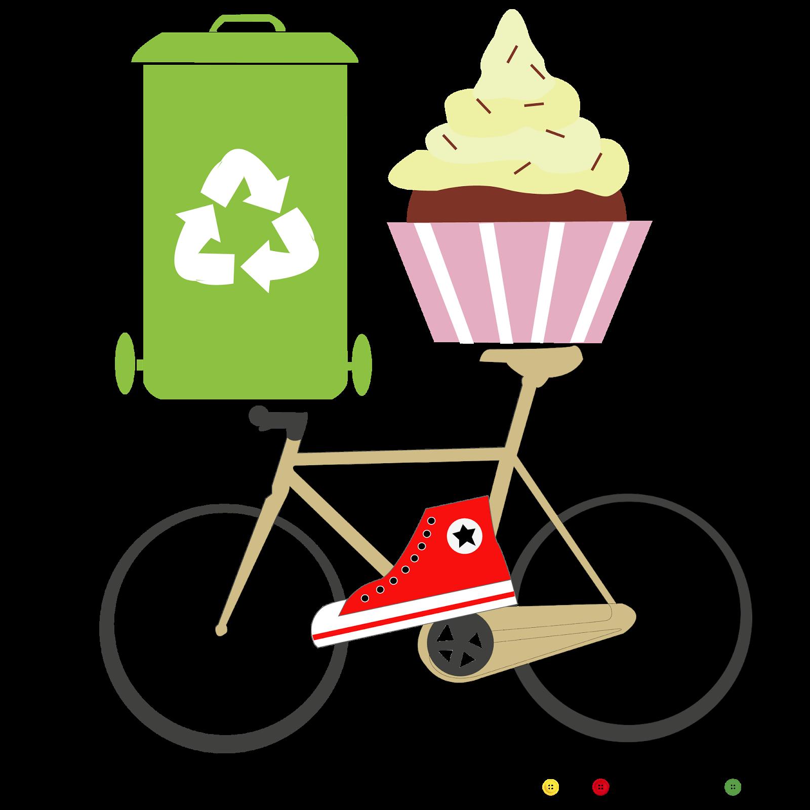 freebies hipster gratis infografia cupcake bicicleta reciclaje ecofriendly converse
