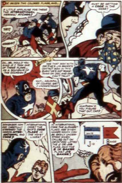 Captain America 57 page with 'Arumph' in dialogue