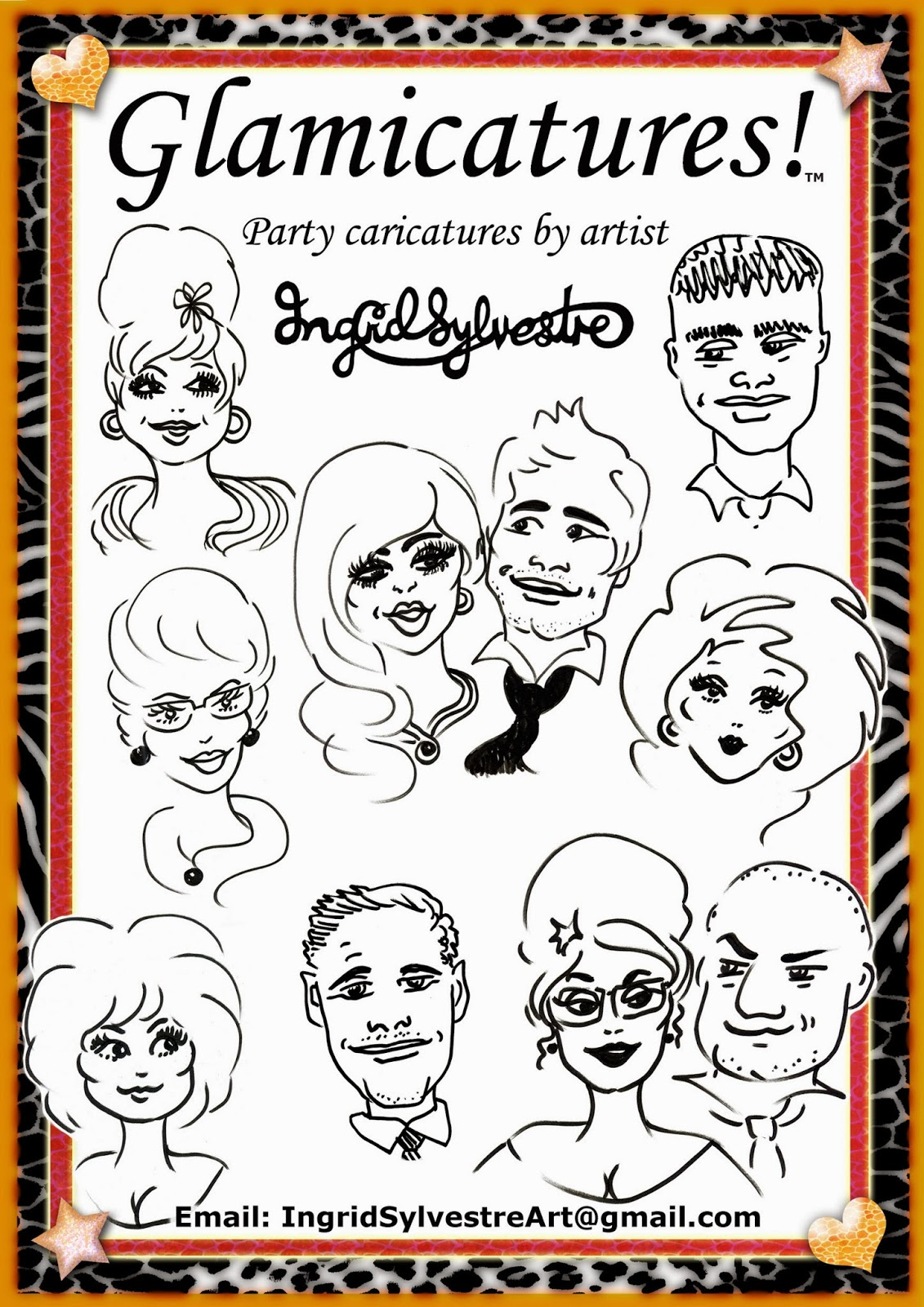 Glamicatures - Party Caricatures that make you look good!