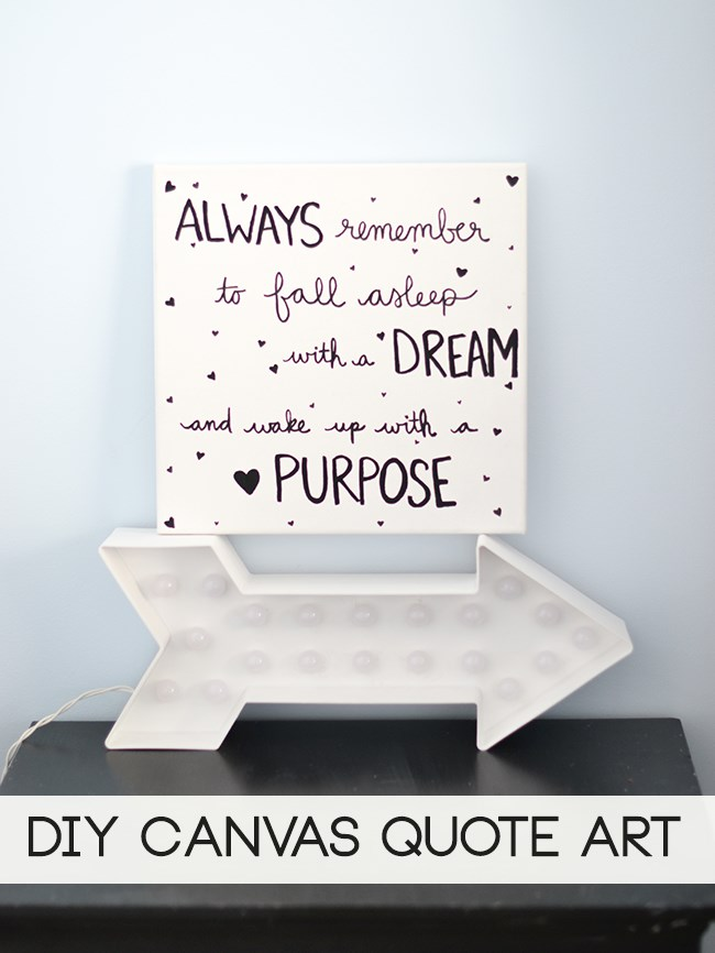 Sayings Wall Art Canvas : Laura rahel diy canvas wall art quote