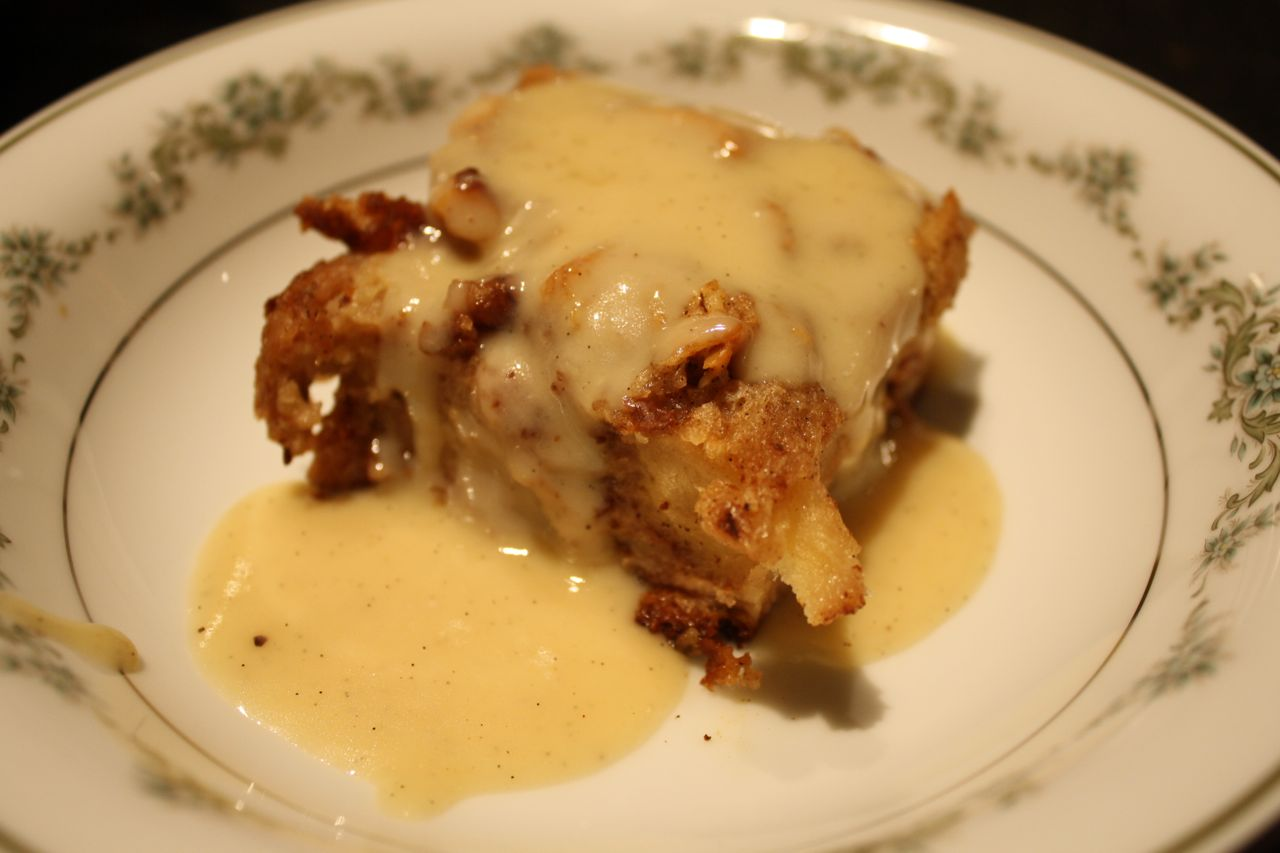 The Roediger House: Challah Bread Pudding with Kahlua Cream Sauce