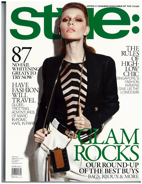 Kira Pievskaya for STYLE Magazine cover