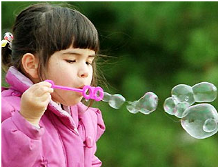 Bubbles for baby game