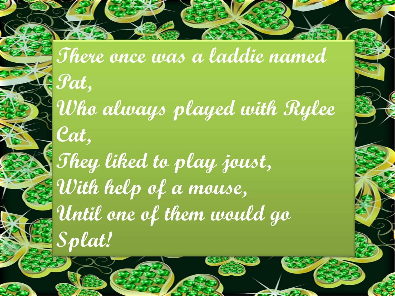 Mrs Gs Musical Machine Luck Of The Irish Limericks