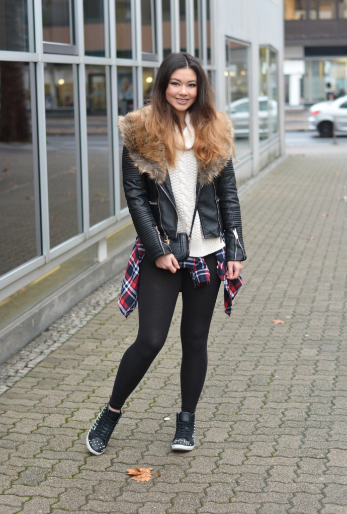 outfit 176 biker jacket with faux fur collar raspberry jam bloglovin. Black Bedroom Furniture Sets. Home Design Ideas