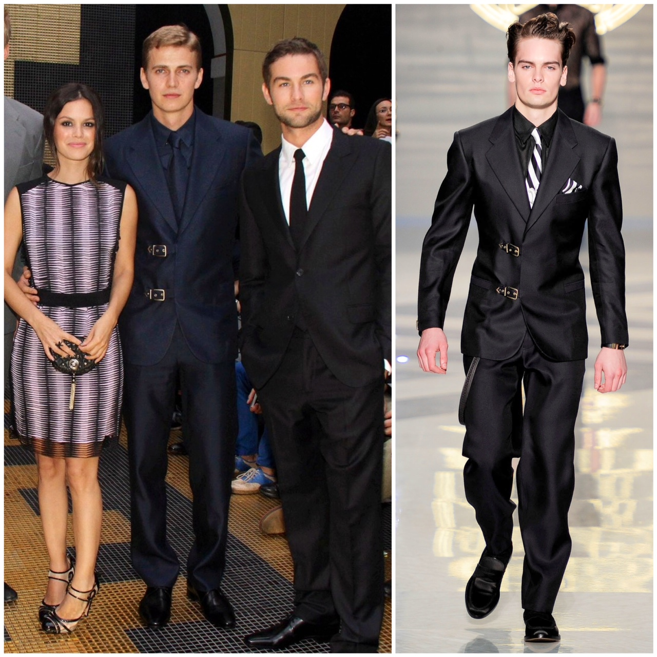 00o00 menswear blog London milan fashion week Versace SS2013 Spring 2013 Hayden Christensen Chace Crawford