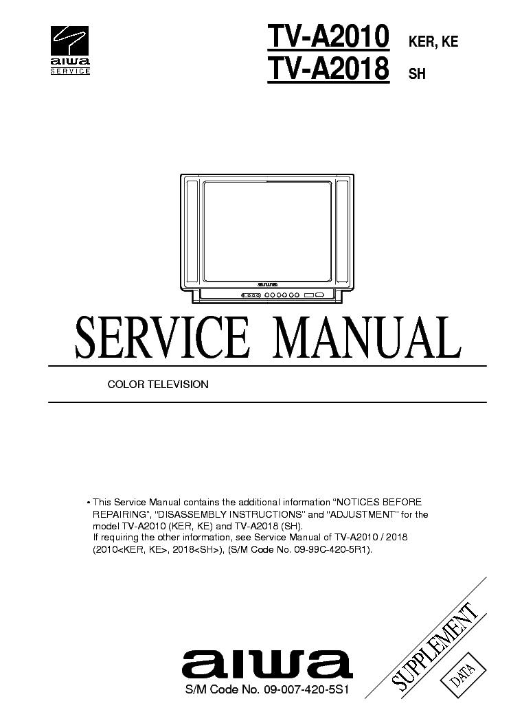 Aiwa Tv Service Manual Download Free
