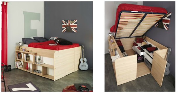 My New Bed Wishlist | Morgan's Milieu: A bed with hidden storage - neat!