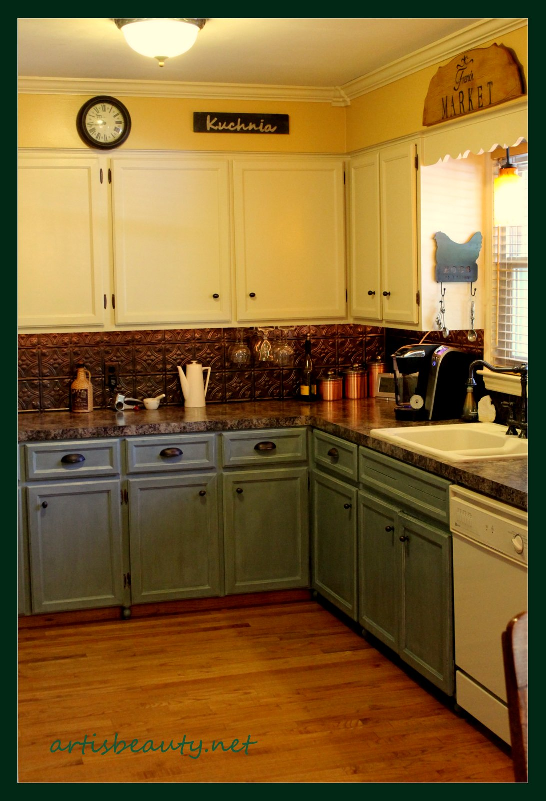Art is beauty kitchen cupboard and kitchen reveal for Cece caldwell kitchen cabinets
