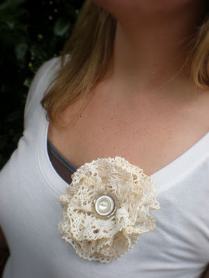 gift for mum: doily lace flower accessory