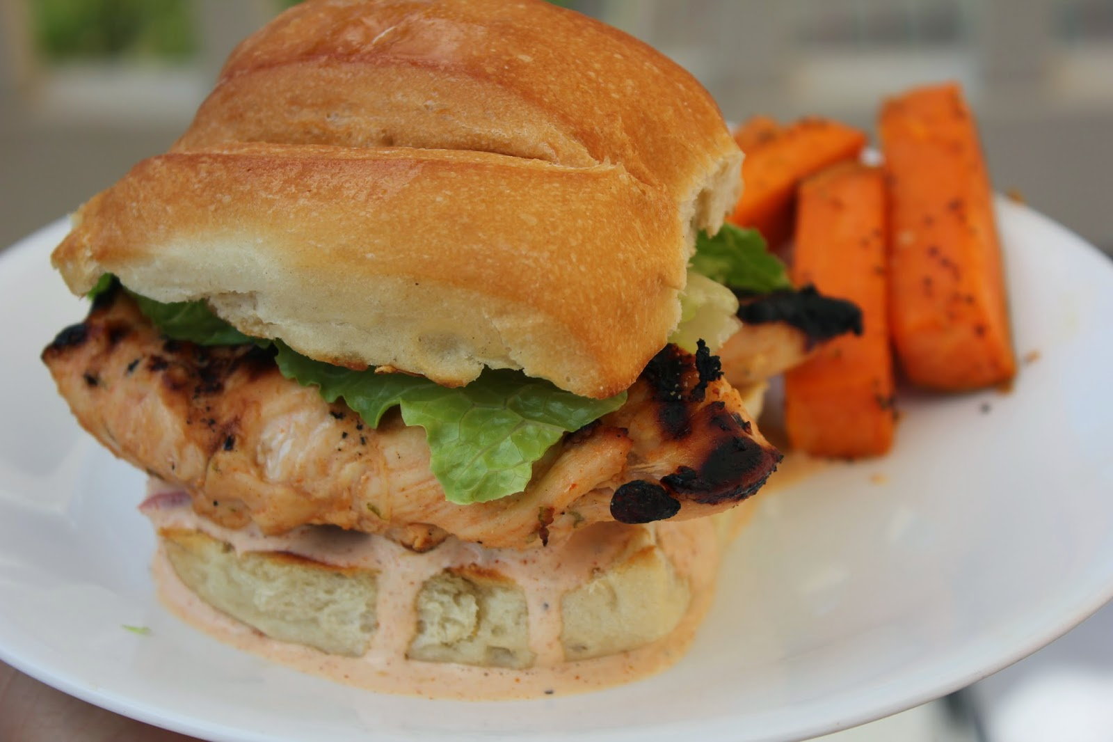 Recipe:  Chicken, Recipe:  Sandwiches, Recipe:  Main Dish, Easy Meal Ideas, Jeff Mauro, The Sandwich King, Louisiana Hot Sauce Chicken Sandwich with Cajun Ranch Dressing, Deals to Meals