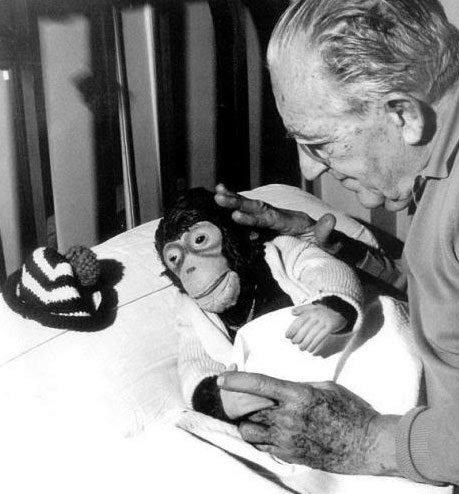 Fritz Lang and Peter the Monkey