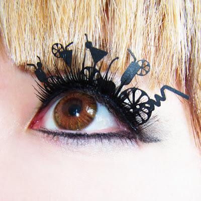faux cils faux-cils etsy originaux excentriques eyelashes lashes paper papier cocktail