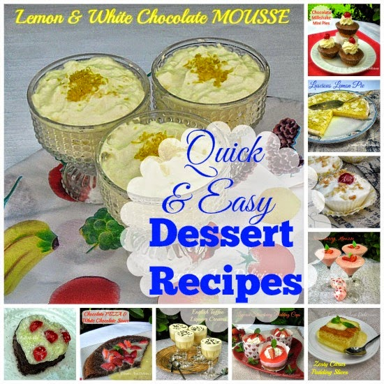 and easy dessert recipes with a blast
