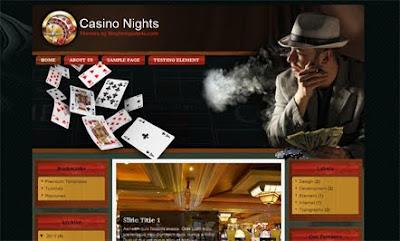 Casino Nights Blogger Template. free casino blogger template