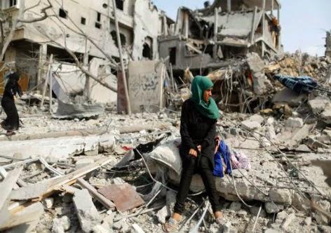 Destruição e morte em Gaza - Palestina