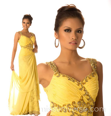 Janine Tugonon long gown and body shot at the Miss Universe website