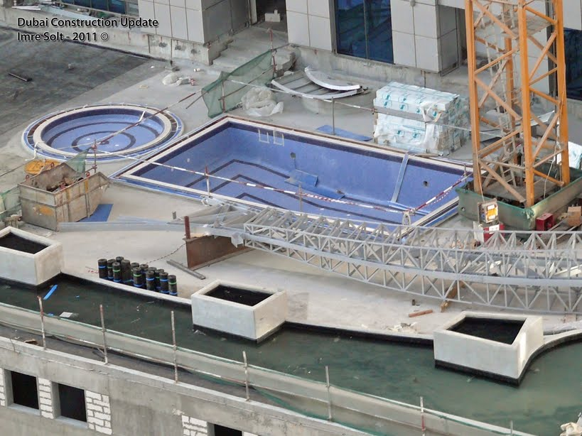 Dubai Constructions Update By Imre Solt Princess Tower Swimming Pool Photos Dubai Marina 21