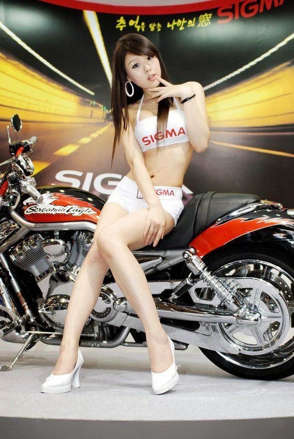 hwang mi hee sexy motor show model 02