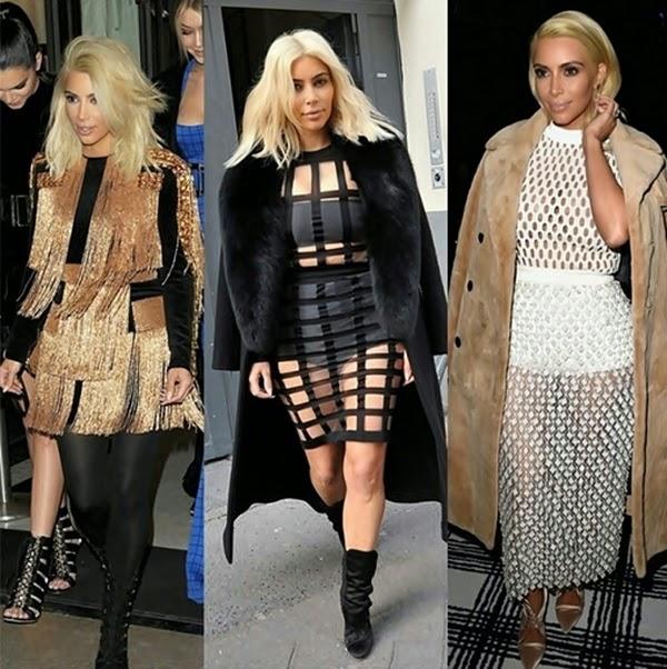 Kim Kardashian Platinada Looks