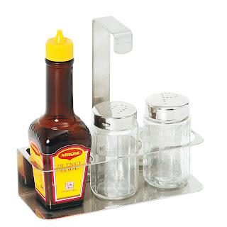 Set de condimente 3-bucati - sare, piper, aroma 140x50x(H)140 mm