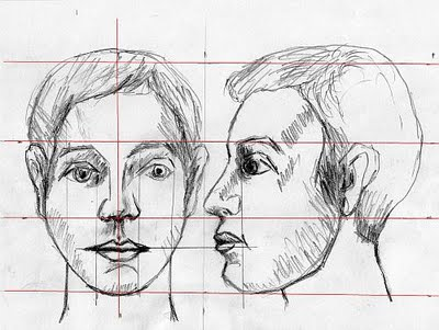 how to draw human features
