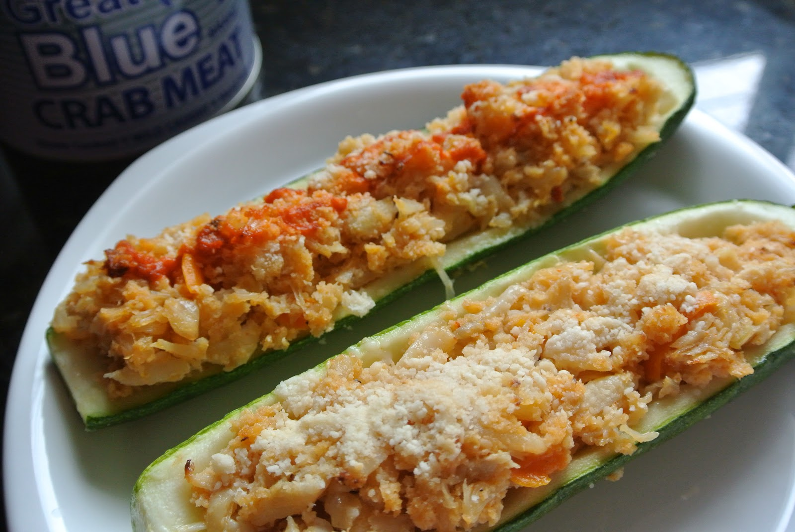 Zucchini Stuffed Crab Cakes Recipe — Dishmaps