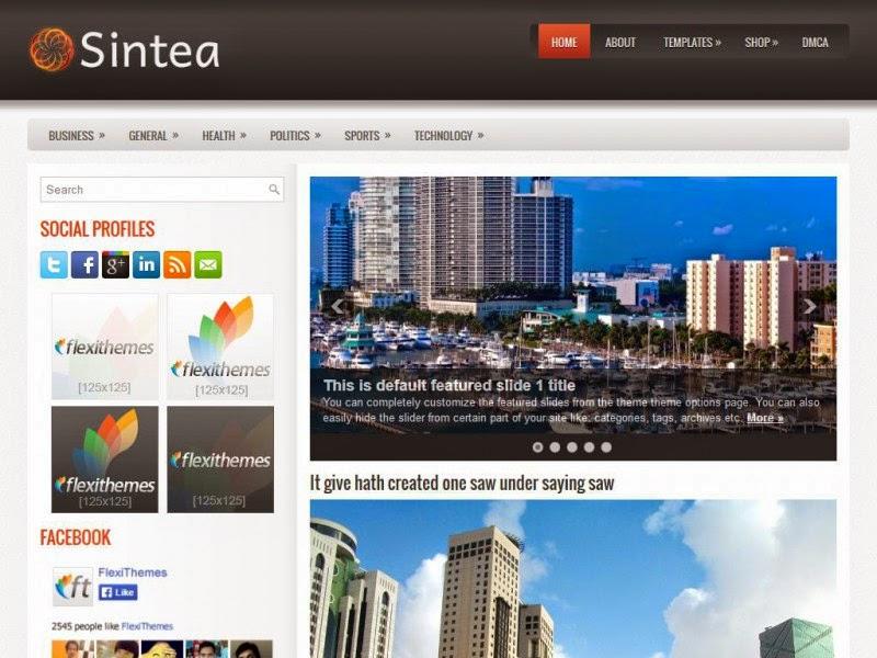Sintea - Free Wordpress Theme