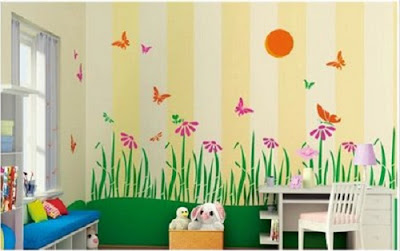 garden painting kids bedroom
