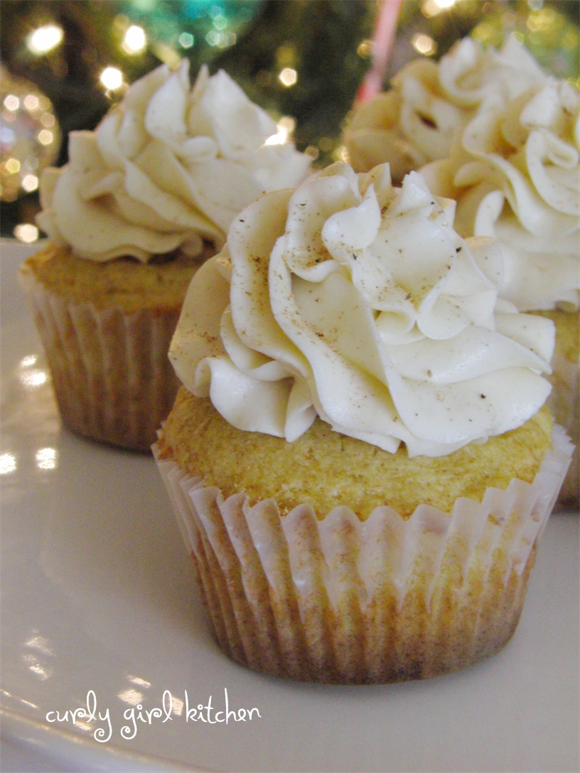 Curly Girl Kitchen: Eggnog Cupcakes