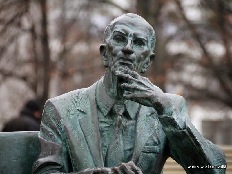 pomnik rzeźba Karol Badyna Muranów Warszawa Śródmieście Jan Karski